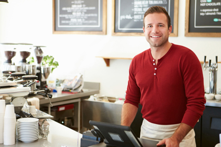 Restaurant bookkeeping Rancho Cucamonga - Man With Billing Machine